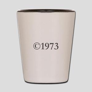 Copyright 1973-Gar gray Shot Glass