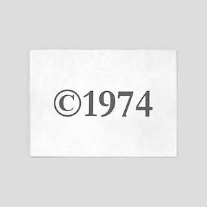 Copyright 1974-Gar gray 5'x7'Area Rug