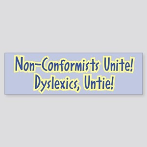 Unite-Untie - Bumper Sticker