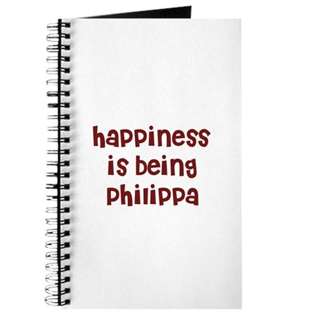 happiness is being Philippa Journal