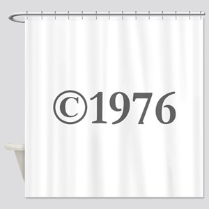 Copyright 1976-Gar gray Shower Curtain