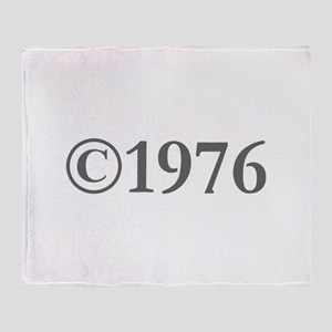 Copyright 1976-Gar gray Throw Blanket