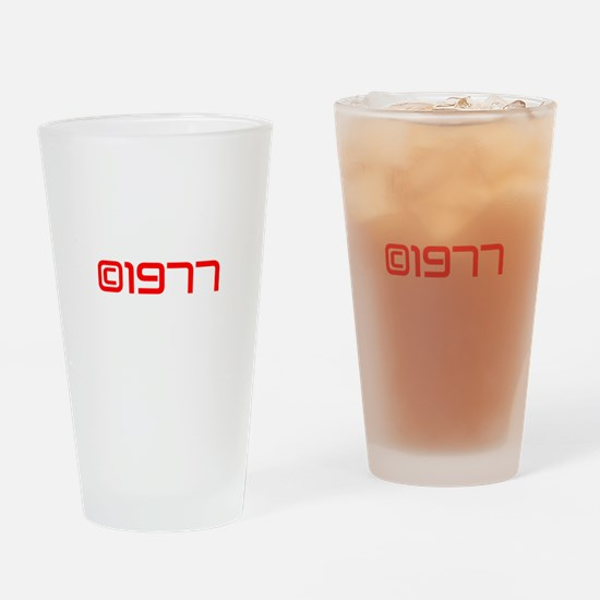 Copyright 1977-Sav red Drinking Glass