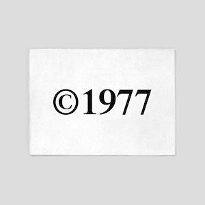 Copyright 1977-Tim black 5'x7'Area Rug