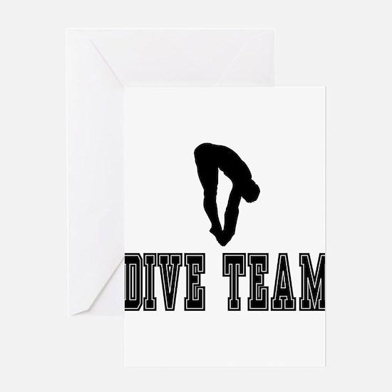 Black Dive Team Logo Greeting Card
