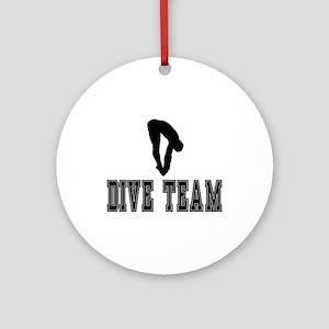 Black Dive Team Logo Ornament (Round)