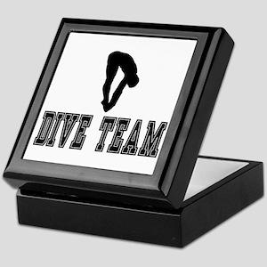 Black Dive Team Logo Keepsake Box
