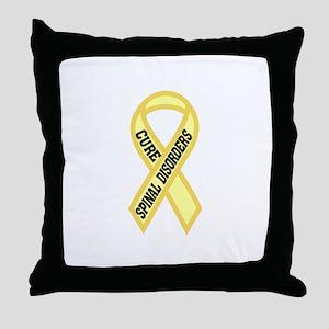 Spinal Disorder Throw Pillow