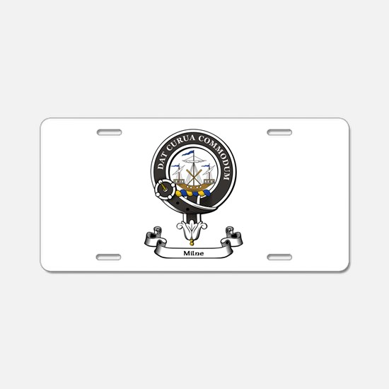 Badge-Milne Aluminum License Plate