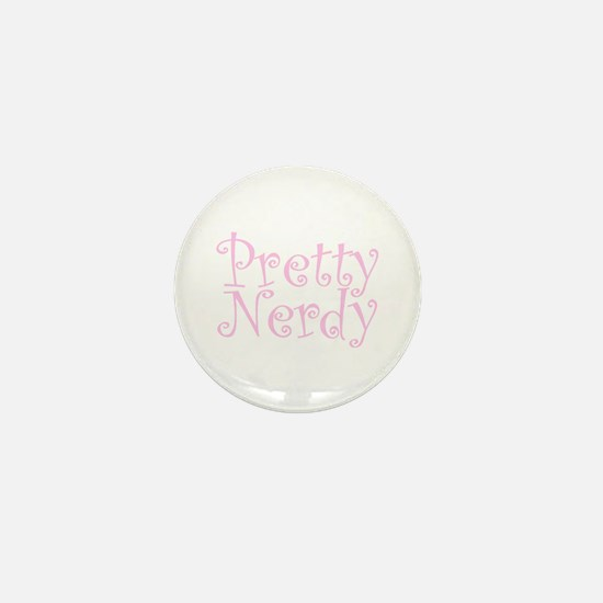 Pink Pretty Nerdy Mini Button