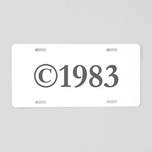 Copyright 1983-Gar gray Aluminum License Plate