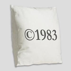 Copyright 1983-Gar gray Burlap Throw Pillow