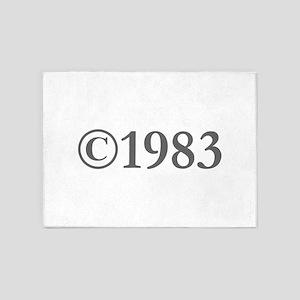 Copyright 1983-Gar gray 5'x7'Area Rug
