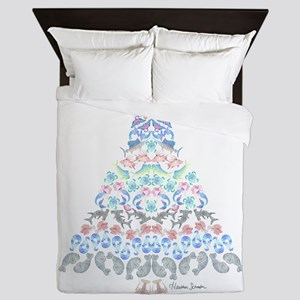 Marine Christmas Tree Queen Duvet