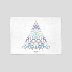 Marine Christmas Tree 5'x7'Area Rug