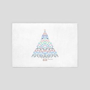Marine Christmas Tree 4' x 6' Rug