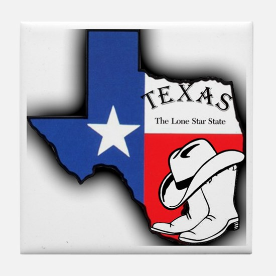 Texas Outline, The Lone Star State Tile Coaster