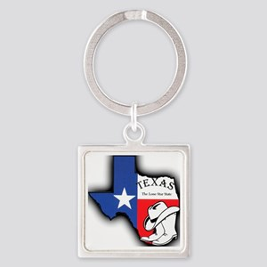 Texas Outline, The Lone Star State Square Keychain