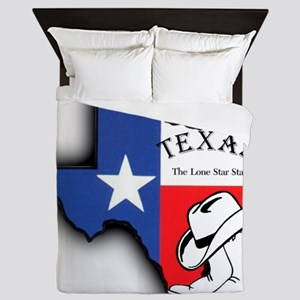 Texas Outline, The Lone Star State Queen Duvet
