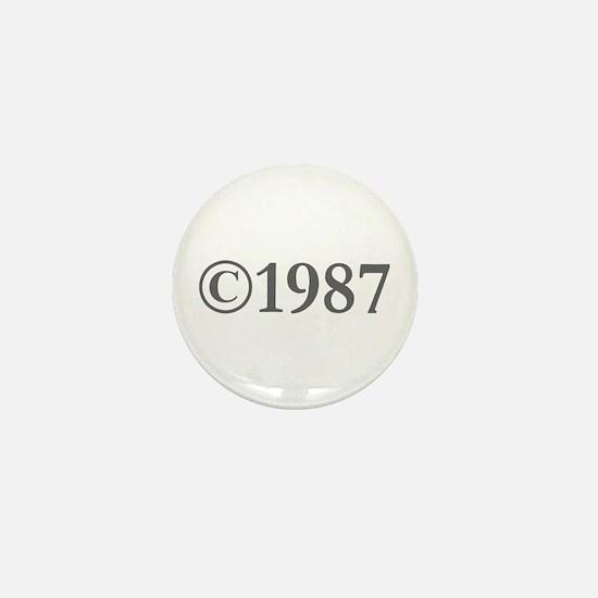 Copyright 1987-Gar gray Mini Button
