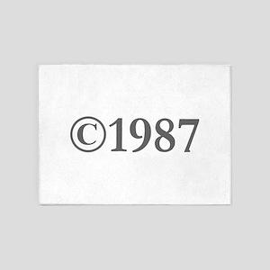 Copyright 1987-Gar gray 5'x7'Area Rug
