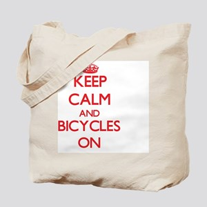 Keep Calm and Bicycles ON Tote Bag
