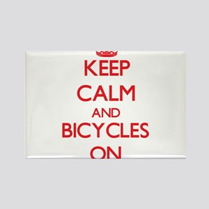 Keep Calm and Bicycles ON Magnets
