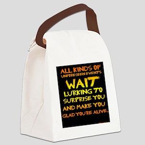 Unforseen Events - Kerouac Canvas Lunch Bag