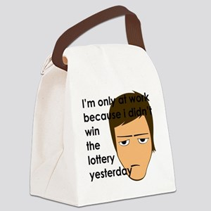 I'm only at work Canvas Lunch Bag