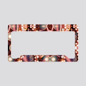 Pink Pearls License Plate Holder