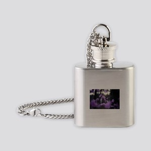 Purple Azaleas of Hope Flask Necklace
