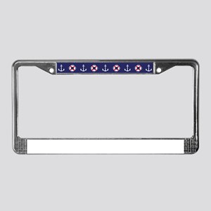 Sailing Elements License Plate Frame