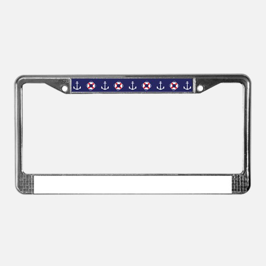 Sailing Elements License Plate Frame