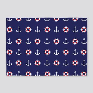 Sailing Elements 5'x7'Area Rug