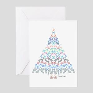 Marine Christmas Tree Greeting Cards
