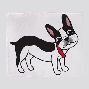 Boston Terrier Chuy Throw Blanket