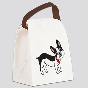 Boston Terrier Chuy Canvas Lunch Bag