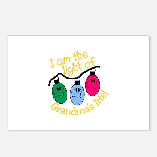 I Am The Light Of Grandma's Life! Postcards (Packa