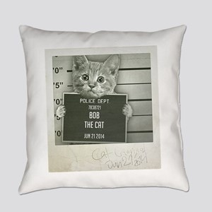 Cat mugshot Everyday Pillow