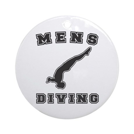 Black Men's Diving Logo Ornament (Round)