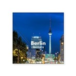 "Berlin Square Sticker 3"" x 3"""