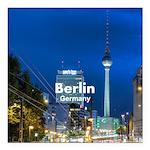 "Berlin Square Car Magnet 3"" x 3"""