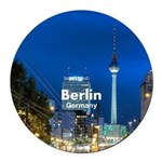 Berlin Round Car Magnet