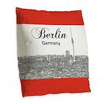 Berlin Burlap Throw Pillow