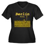 Berlin Women's Plus Size V-Neck Dark T-Shirt