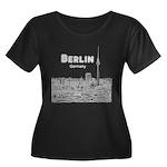 Berlin Women's Plus Size Scoop Neck Dark T-Shirt