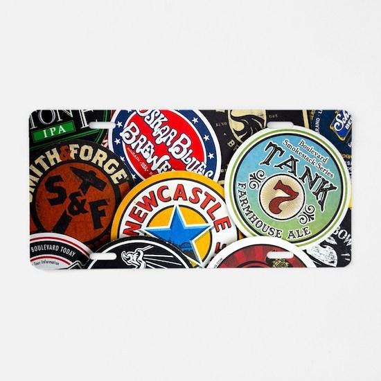 Cute Beer Aluminum License Plate