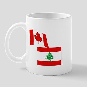Canadian and Lebanese Flag Mug
