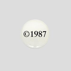 Copyright 1987-Tim black Mini Button