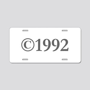 Copyright 1992-Gar gray Aluminum License Plate